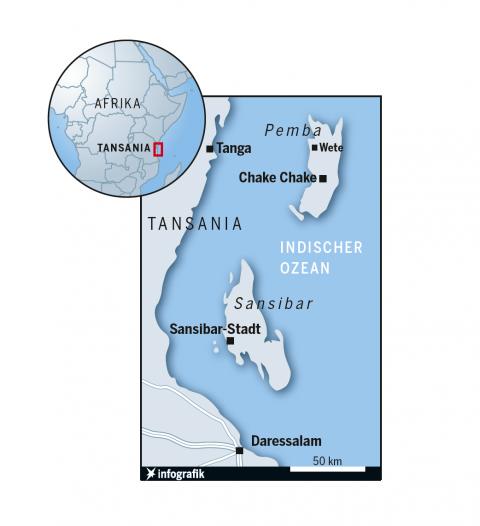 Kartografie Sansibar