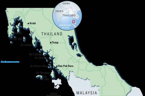 Thailand Kartografie