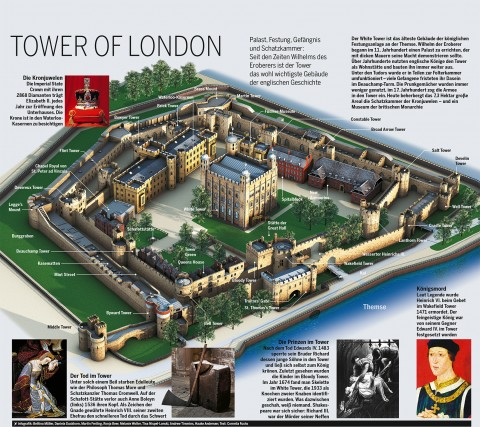 tower of london infografik 3D